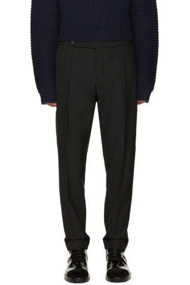 Carven - Black Cropped Wool Trousers
