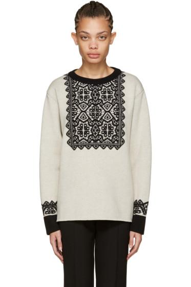 Chloé - Beige Wool Stencil Sweater