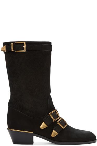 Chloé - Black Suede Susan Boots