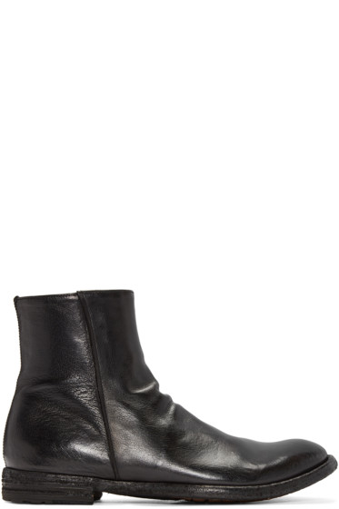 Officine Creative - Black Leather Zip Boots