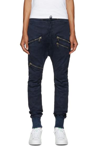 Pierre Balmain - Navy Zip Trousers