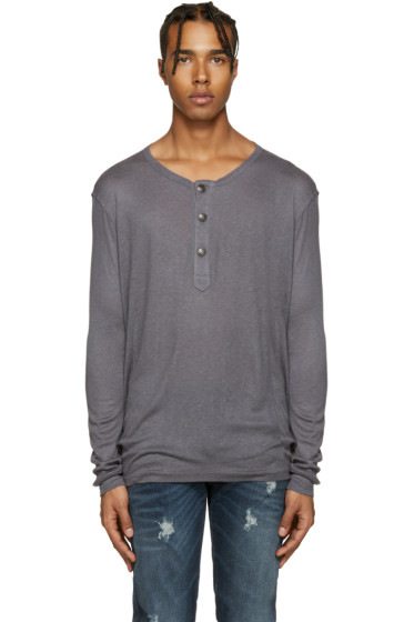 Pierre Balmain - Grey Wool Henley