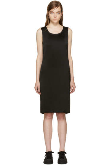 Ann Demeulemeester - Black Satin Dress