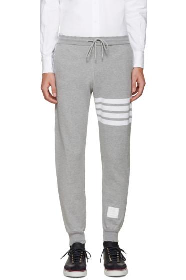 Thom Browne - Grey Cropped Lounge Pants