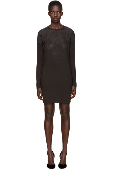 Versus - Black Laser-Cut Lion Dress