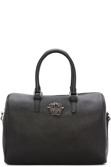 Versace - Black Faux Leather Duffle Bag