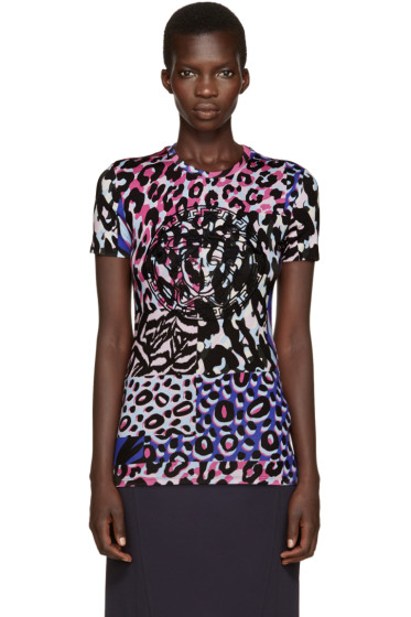 Versace - Multicolor Embroidered T-Shirt