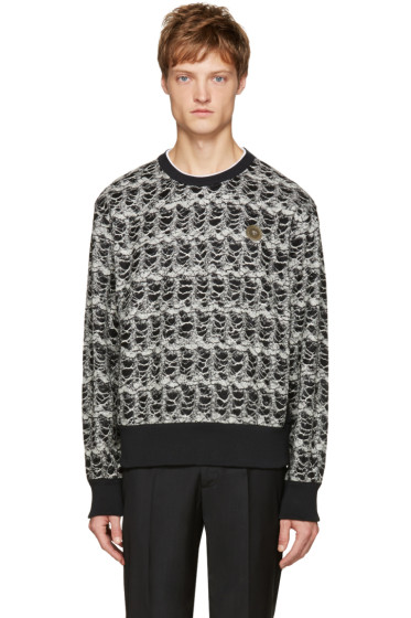 Versace - Black & White Textured Pullover
