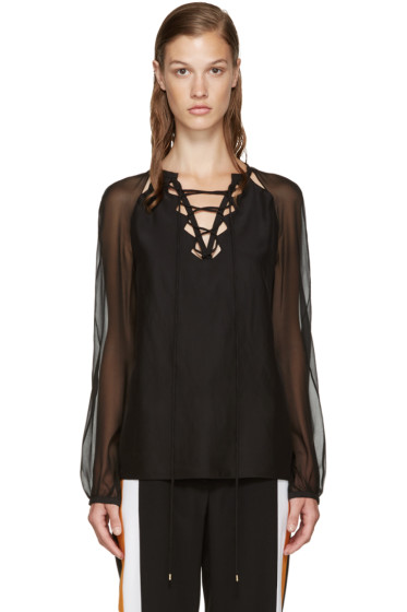 Altuzarra - Black Silk Benny Blouse