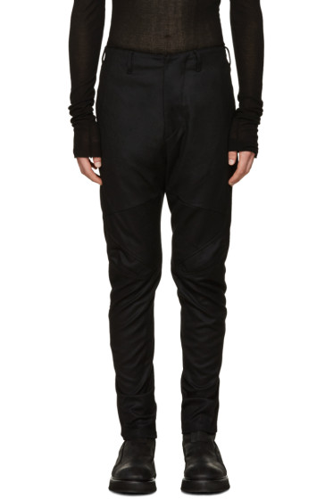 Julius - Black Wool Saxony Trousers