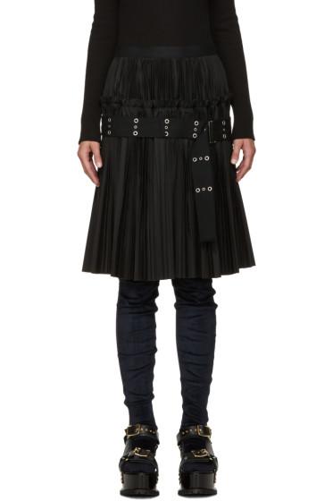 Sacai - Black Classic Pleated Shirting Skirt
