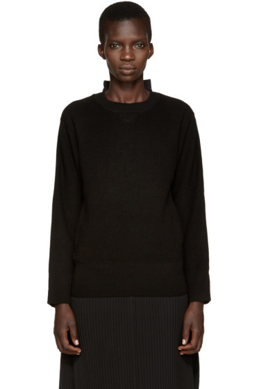 Sacai - Black Hybrid Pullover