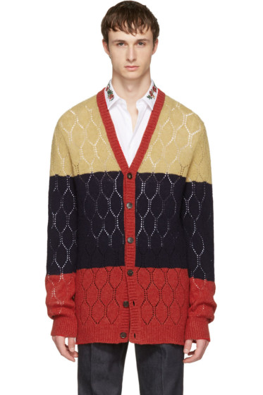Gucci - Tricolor Wool Cardigan