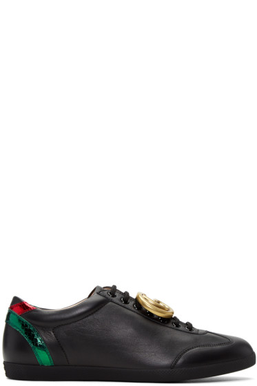 Gucci - Black Leather GG Sneakers