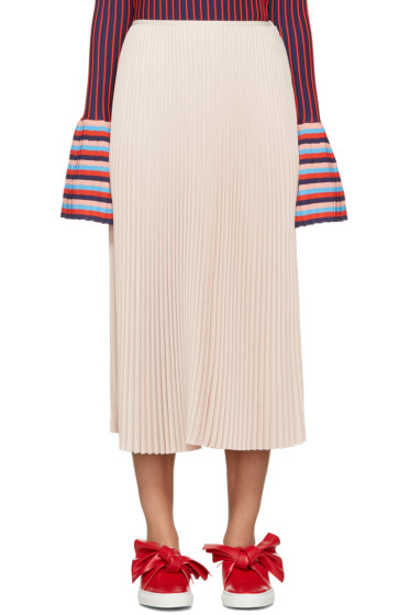 Cédric Charlier - Pink Pleated Skirt