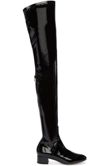 Valentino - Black Patent Tall Boots