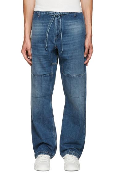 Valentino - Blue Wide-Leg Jeans
