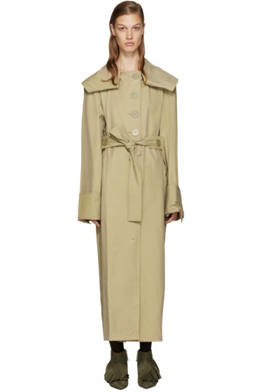 J.W. Anderson - Tan Draped Trench Coat