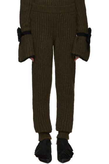 J.W. Anderson - Green Knit Lounge Pants
