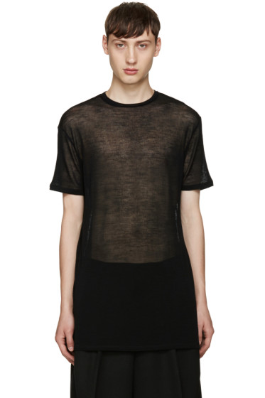 Thamanyah - Black Sheer T-Shirt