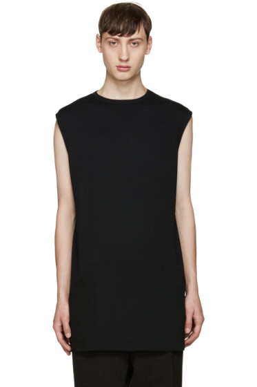 Thamanyah - Black Wool T-Shirt