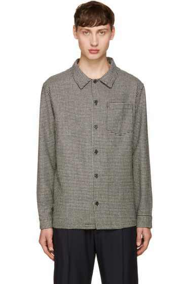 AMI Alexandre Mattiussi - Black & Off-White Houndstooth Shirt