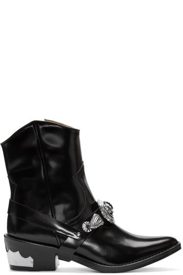 Toga Pulla - Black Western Details Boots