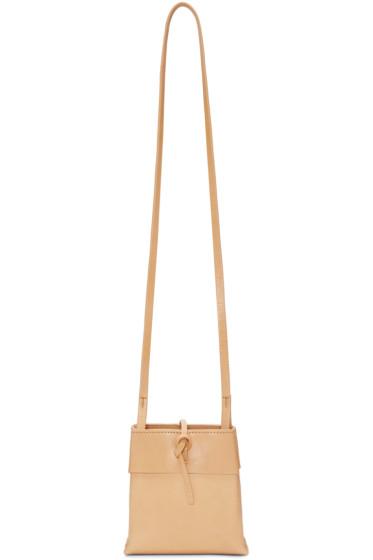 Kara - Beige Nano Tie Bag