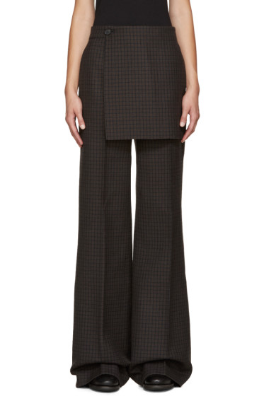 Yang Li - Multicolor Wide-Leg Apron Trousers