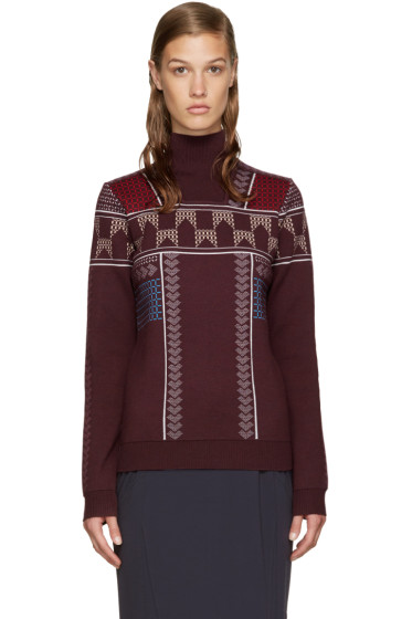 Peter Pilotto - Burgundy Ski Knit Pullover