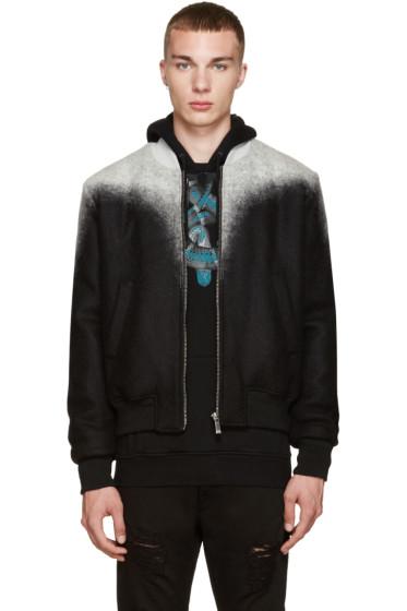 Marcelo Burlon County of Milan - Black & Grey Zapaleri Bomber Jacket