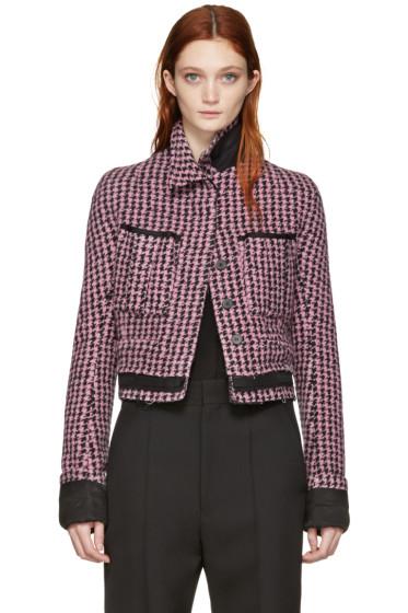 Haider Ackermann - Pink Houndstooth Jacket