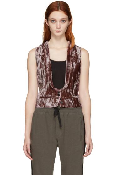 Haider Ackermann - Brown Velvet Waistcoat