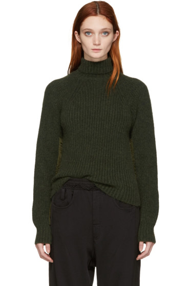 Haider Ackermann - Green Rib Knit Turtleneck
