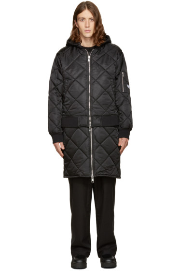 Hood by Air - Black Against Quilted Bomber Jacket