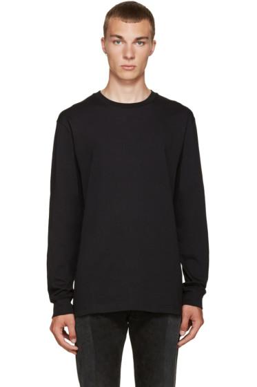 Hood by Air - Black Cut-Out T-Shirt