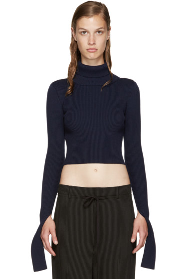 Jacquemus - Navy Cropped Turtleneck