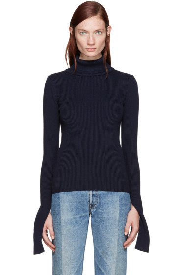 Jacquemus - Navy Ribbed Turtleneck
