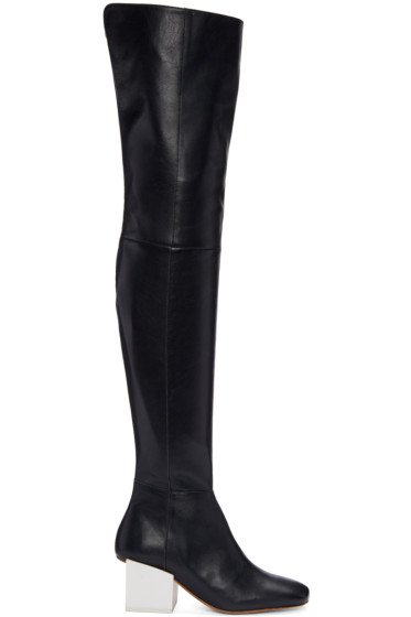 Jacquemus - Navy Arlequin Over-the-Knee Boots
