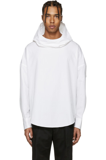 Lad Musician - White Hooded Shirt