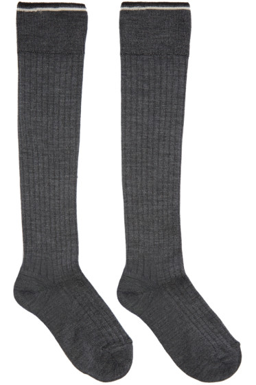 Isabel Marant - Grey Silk Zina Socks