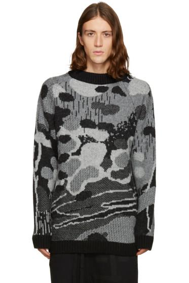 11 by Boris Bidjan Saberi - Black & Grey Jacquard Sweater
