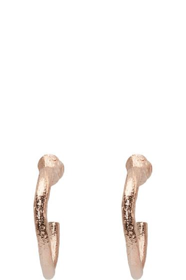 Pearls Before Swine - SSENSE Exclusive Rose Gold Loop Earrings