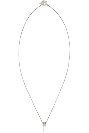 Pearls Before Swine - Silver Triple Thorn Necklace