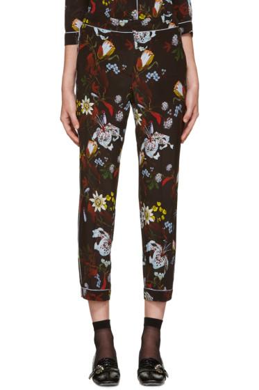 Erdem - Black Floral Guilia Trousers