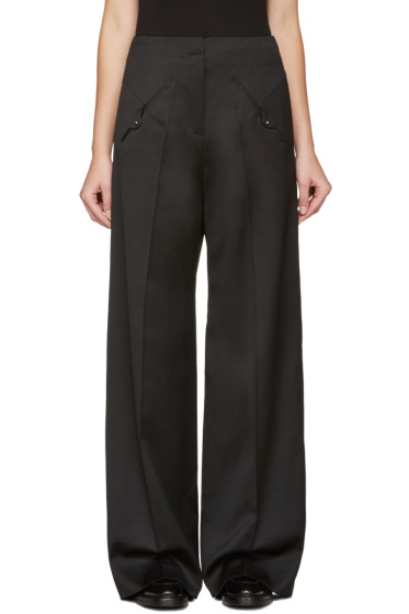Esteban Cortazar - Black Straight-Leg Trousers
