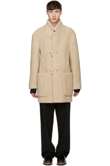 Lemaire - Beige Faux-Shearling Gloverall Edition Duffle Coat