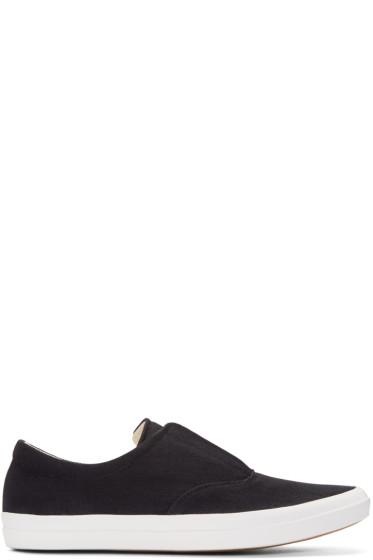 Lemaire - Black Denim Slip-On Sneakers