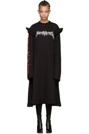Vetements - Black 70s Logo Dress