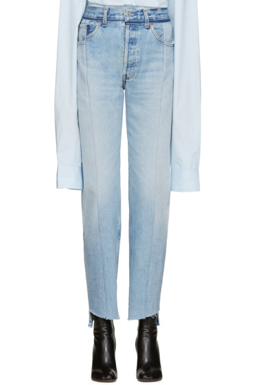 Vetements - Blue Reworked Jeans